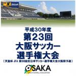 平成30年度第23回大阪サッカー選手権大会決勝のお知らせ